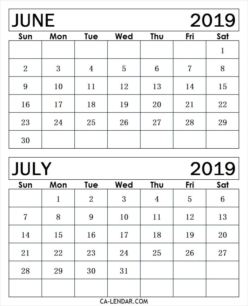 photograph about Printable Calendar June identify June and July 2019 Calendar (2 Weeks Printable Templates